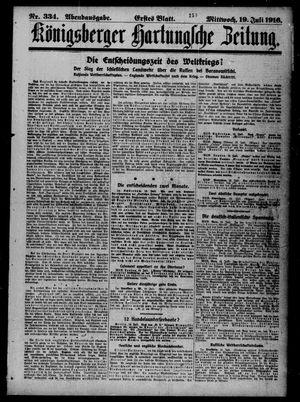 Königsberger Hartungsche Zeitung on Jul 19, 1916