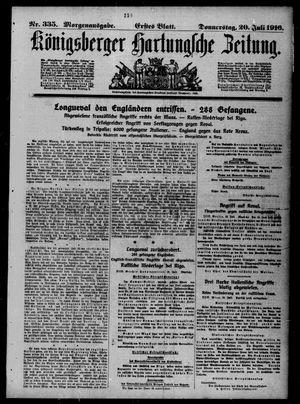 Königsberger Hartungsche Zeitung vom 20.07.1916