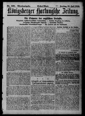 Königsberger Hartungsche Zeitung vom 21.07.1916