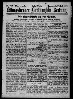 Königsberger Hartungsche Zeitung on Jul 22, 1916