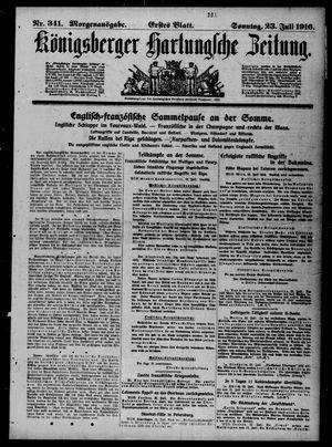 Königsberger Hartungsche Zeitung vom 23.07.1916