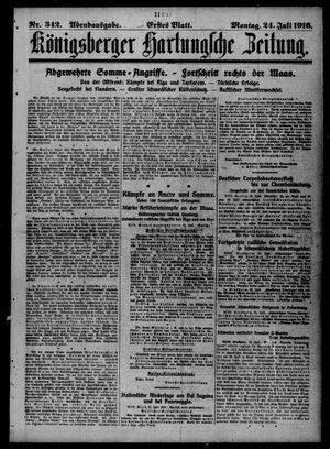 Königsberger Hartungsche Zeitung vom 24.07.1916