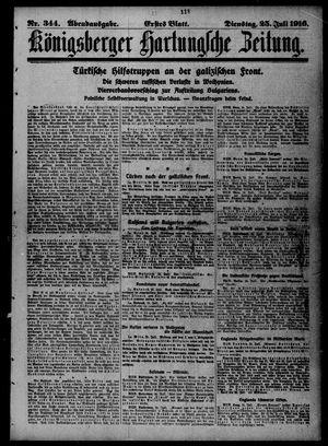 Königsberger Hartungsche Zeitung vom 25.07.1916