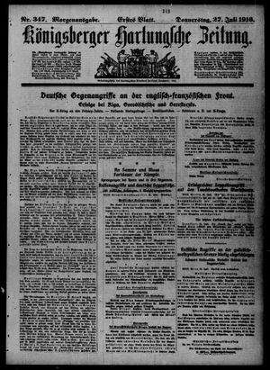 Königsberger Hartungsche Zeitung vom 27.07.1916