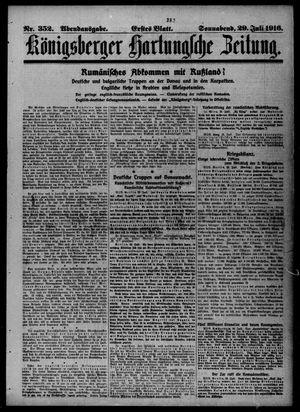 Königsberger Hartungsche Zeitung vom 29.07.1916