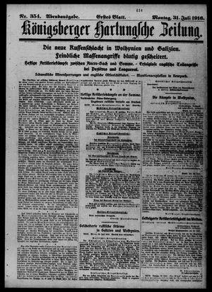 Königsberger Hartungsche Zeitung vom 30.07.1916