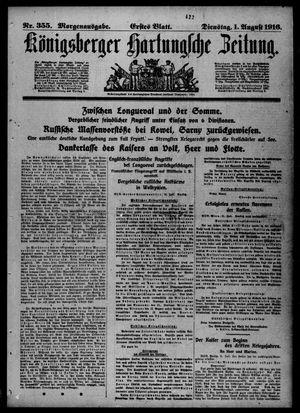 Königsberger Hartungsche Zeitung vom 01.08.1916