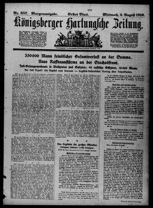 Königsberger Hartungsche Zeitung vom 02.08.1916