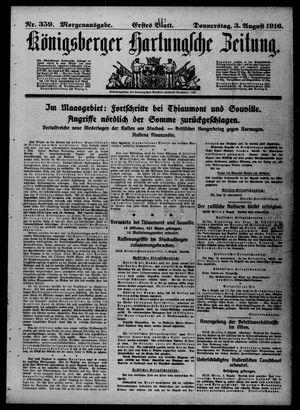 Königsberger Hartungsche Zeitung vom 03.08.1916