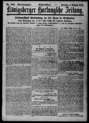 Königsberger Hartungsche Zeitung vom 04.08.1916