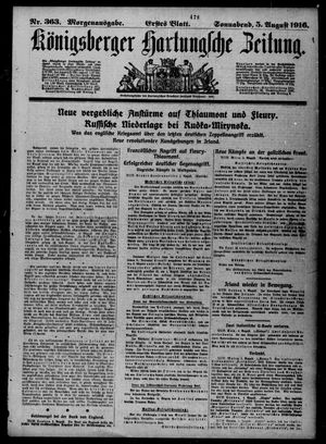 Königsberger Hartungsche Zeitung on Aug 5, 1916