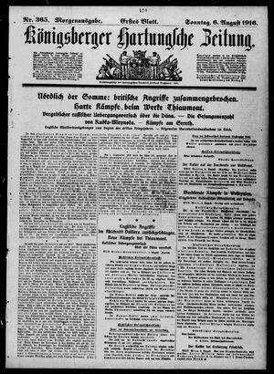 Königsberger Hartungsche Zeitung vom 06.08.1916