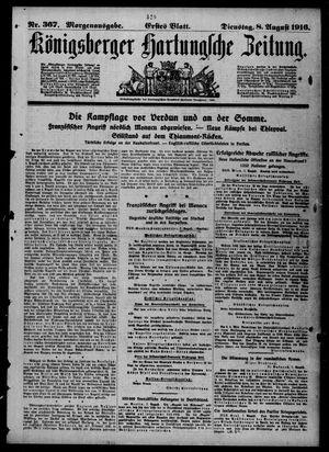 Königsberger Hartungsche Zeitung vom 08.08.1916