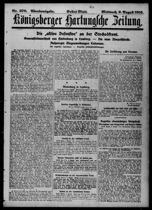 Königsberger Hartungsche Zeitung vom 09.08.1916