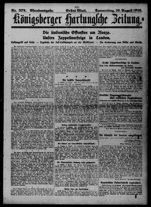 Königsberger Hartungsche Zeitung vom 10.08.1916