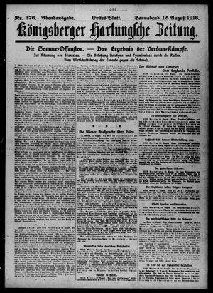 Königsberger Hartungsche Zeitung vom 12.08.1916
