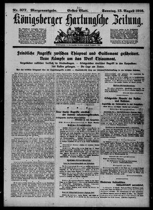 Königsberger Hartungsche Zeitung vom 13.08.1916