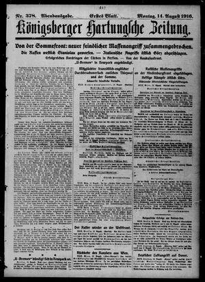 Königsberger Hartungsche Zeitung vom 14.08.1916