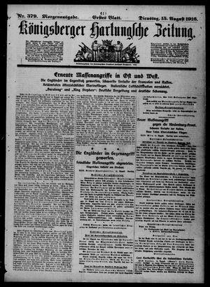Königsberger Hartungsche Zeitung vom 15.08.1916