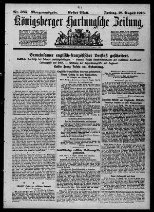 Königsberger Hartungsche Zeitung on Aug 18, 1916