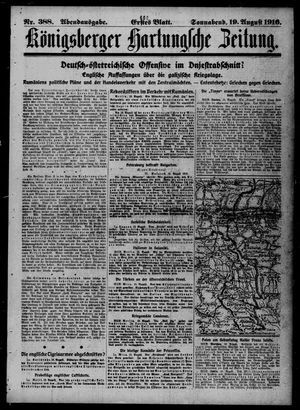 Königsberger Hartungsche Zeitung vom 19.08.1916