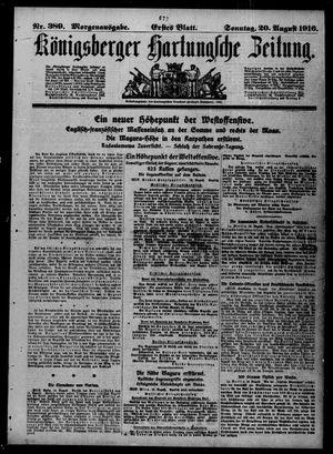 Königsberger Hartungsche Zeitung vom 20.08.1916