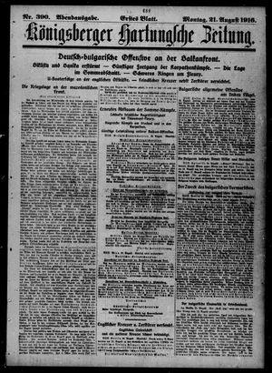 Königsberger Hartungsche Zeitung vom 21.08.1916