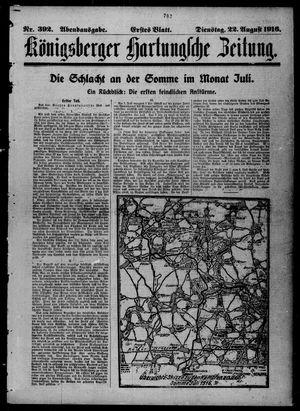 Königsberger Hartungsche Zeitung vom 22.08.1916