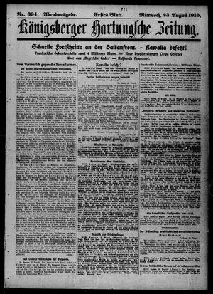 Königsberger Hartungsche Zeitung vom 23.08.1916