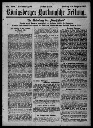 Königsberger Hartungsche Zeitung vom 25.08.1916