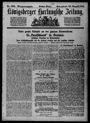 Königsberger Hartungsche Zeitung vom 26.08.1916