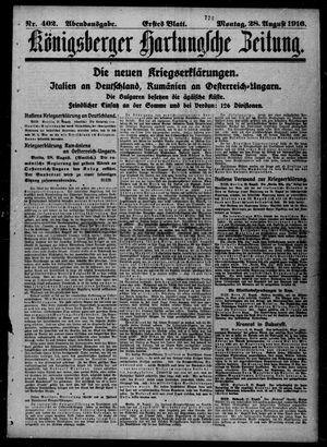 Königsberger Hartungsche Zeitung vom 28.08.1916