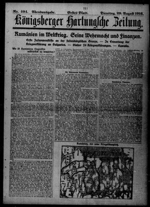 Königsberger Hartungsche Zeitung vom 29.08.1916
