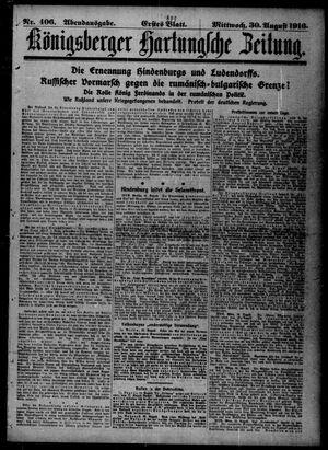 Königsberger Hartungsche Zeitung vom 30.08.1916