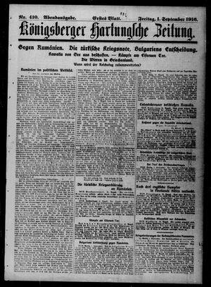 Königsberger Hartungsche Zeitung vom 01.09.1916