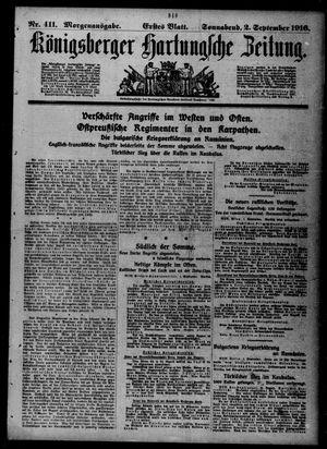 Königsberger Hartungsche Zeitung vom 02.09.1916