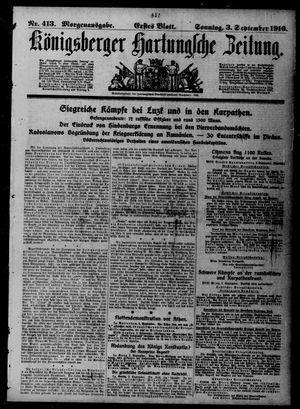 Königsberger Hartungsche Zeitung vom 03.09.1916