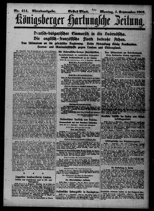 Königsberger Hartungsche Zeitung vom 04.09.1916