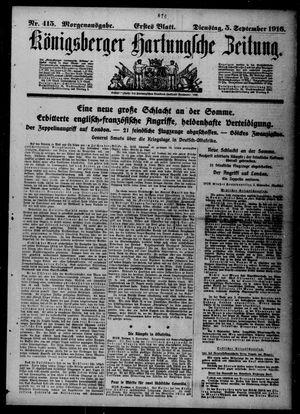 Königsberger Hartungsche Zeitung vom 05.09.1916