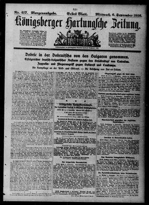 Königsberger Hartungsche Zeitung vom 06.09.1916