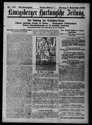 Königsberger Hartungsche Zeitung vom 08.09.1916