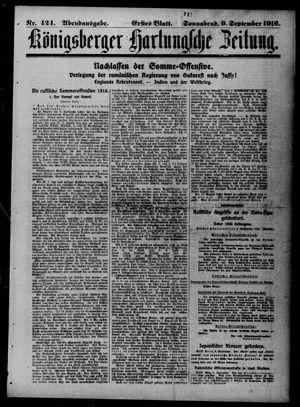 Königsberger Hartungsche Zeitung vom 09.09.1916