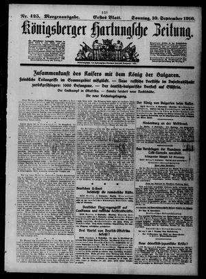 Königsberger Hartungsche Zeitung on Sep 10, 1916