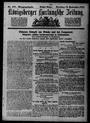 Königsberger Hartungsche Zeitung vom 12.09.1916