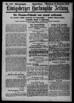 Königsberger Hartungsche Zeitung vom 13.09.1916