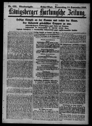 Königsberger Hartungsche Zeitung vom 14.09.1916