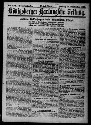 Königsberger Hartungsche Zeitung vom 15.09.1916