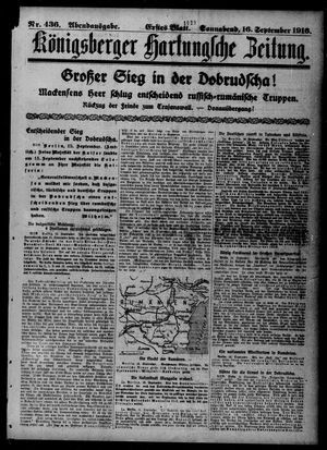 Königsberger Hartungsche Zeitung vom 16.09.1916
