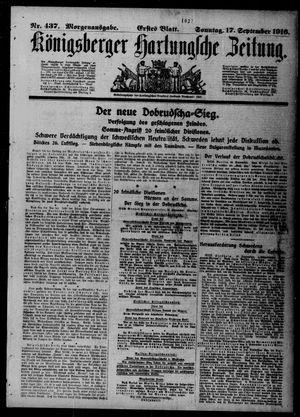 Königsberger Hartungsche Zeitung on Sep 17, 1916