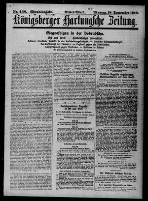 Königsberger Hartungsche Zeitung on Sep 18, 1916